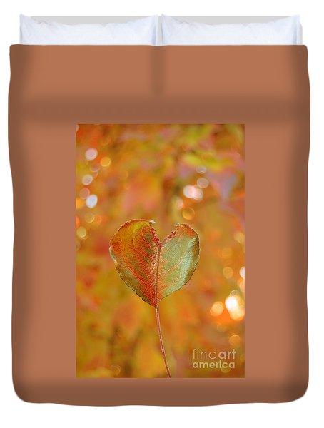 Duvet Cover featuring the photograph Autumn's Golden Splendor by Debra Thompson