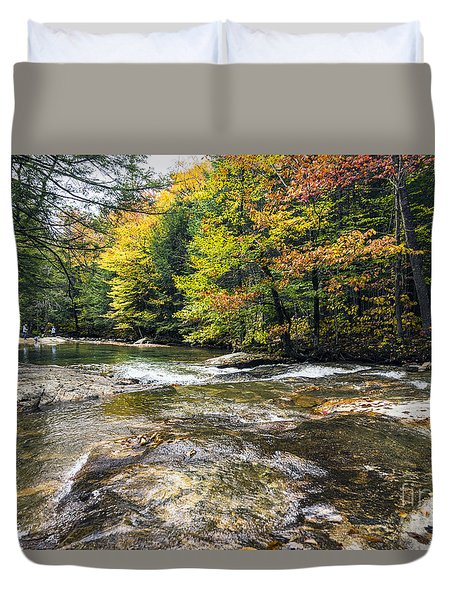 Duvet Cover featuring the photograph Autumns Kiss by Anthony Baatz