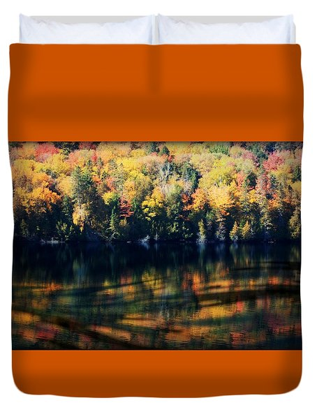 Duvet Cover featuring the photograph Autumn's Masterpiece by Robin Regan