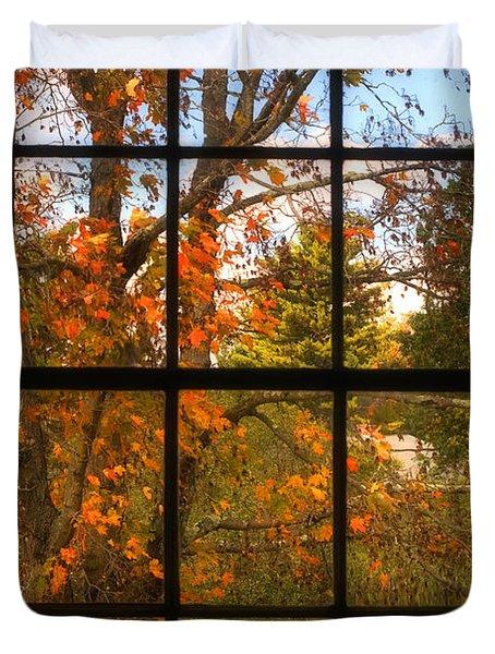 Autumn's Palette Duvet Cover by Joann Vitali