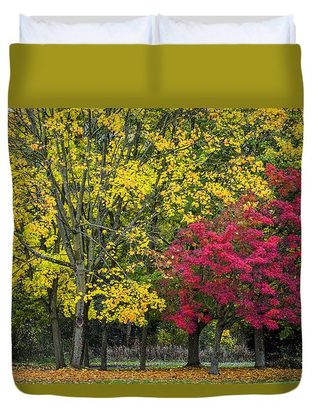 Autumn's Peak Duvet Cover
