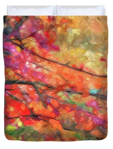 Autumns Splendorous Canvas Duvet Cover
