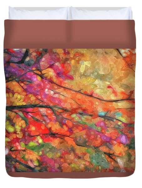 Autumns Splendorous Canvas Duvet Cover