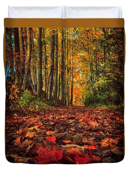 Autumn's Walkway Duvet Cover