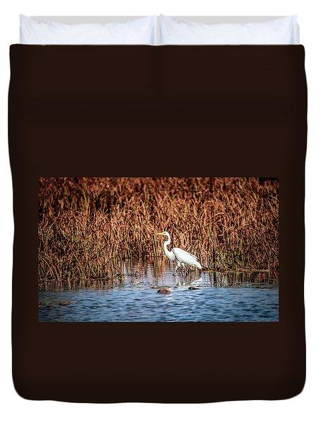 Autumn's Shore Duvet Cover by Ray Congrove
