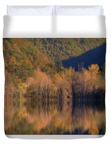 Duvet Cover featuring the photograph Autunno In Liguria - Autumn In Liguria 1 by Enrico Pelos