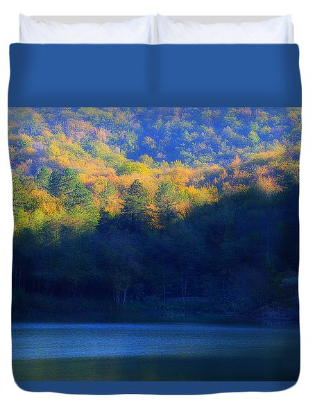 Duvet Cover featuring the photograph Autunno In Liguria - Autumn In Liguria 2 by Enrico Pelos