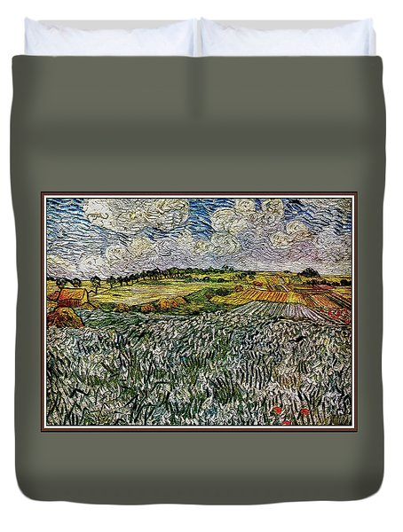 Duvet Cover featuring the painting Landscape Auvers28 by Pemaro