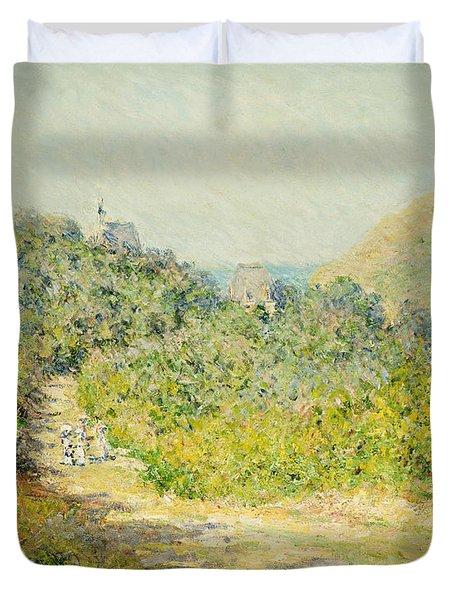 Aux Petites Dalles Duvet Cover by Claude Monet
