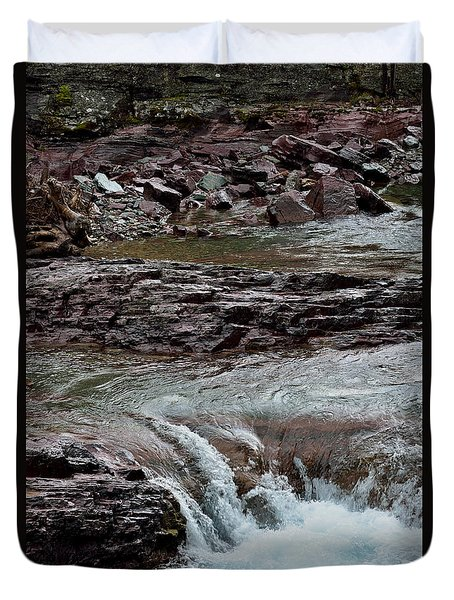 Avalanche Creek - Glacier National Park Duvet Cover