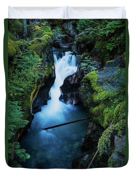 Avalanche Creek Rapids Duvet Cover