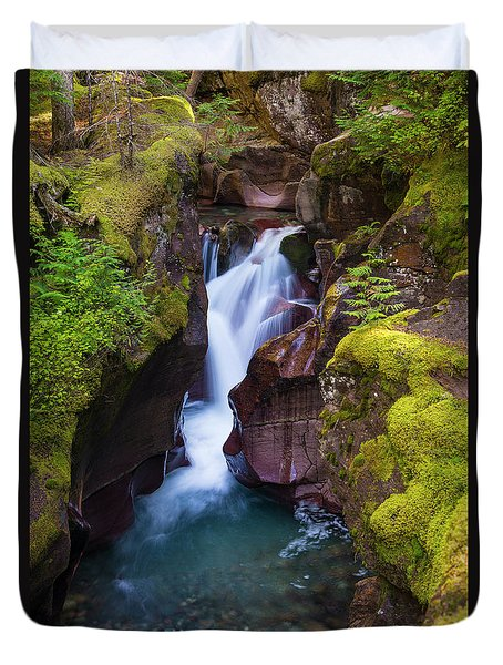 Duvet Cover featuring the photograph Avalanche Gorge 4 by Gary Lengyel