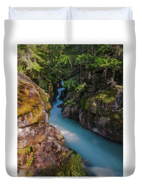 Duvet Cover featuring the photograph Avalanche Gorge 5 by Gary Lengyel