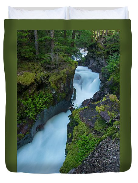 Duvet Cover featuring the photograph Avalanche Gorge 6 by Gary Lengyel