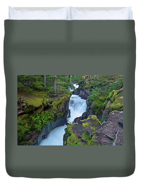 Duvet Cover featuring the photograph Avalanche Gorge 7 by Gary Lengyel