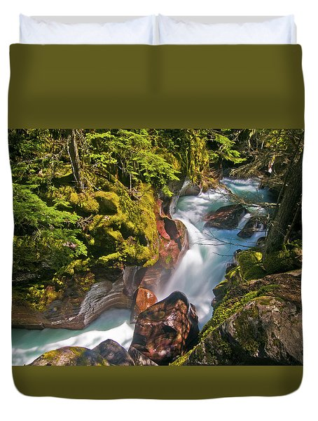 Duvet Cover featuring the photograph Avalanche Gorge by Gary Lengyel