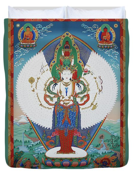 Avalokiteshvara Lord Of Compassion Duvet Cover