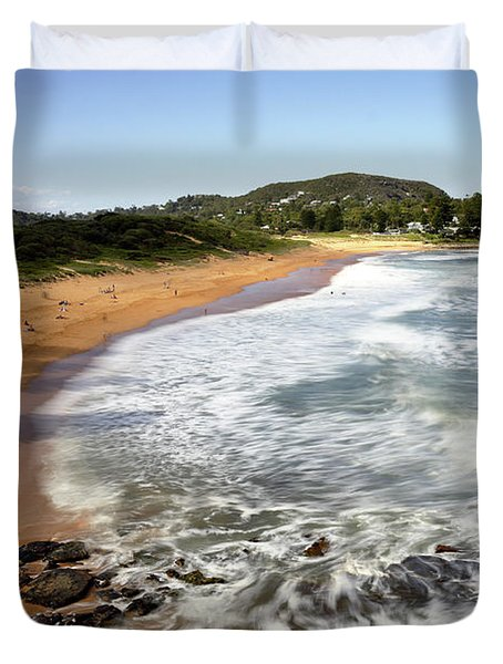 Duvet Cover featuring the photograph Avalon Beach by Nicholas Blackwell