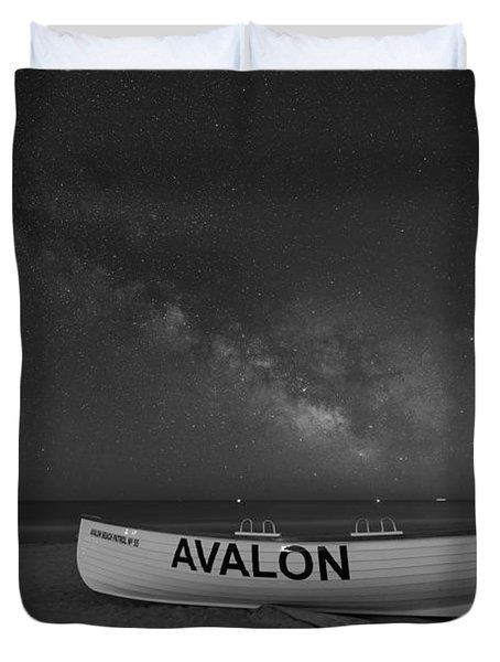 Avalon Milky Way Bw Duvet Cover