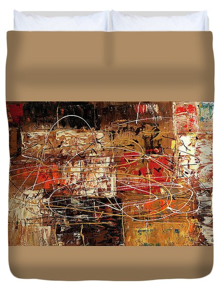 Duvet Cover featuring the painting Avant Garde by Carmen Guedez