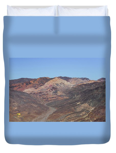 Duvet Cover featuring the photograph Avawatz Mountain by Jim Thompson