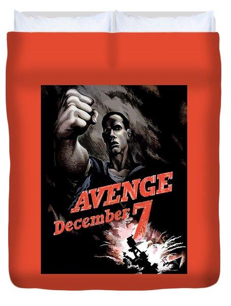 Avenge December 7th Duvet Cover by War Is Hell Store