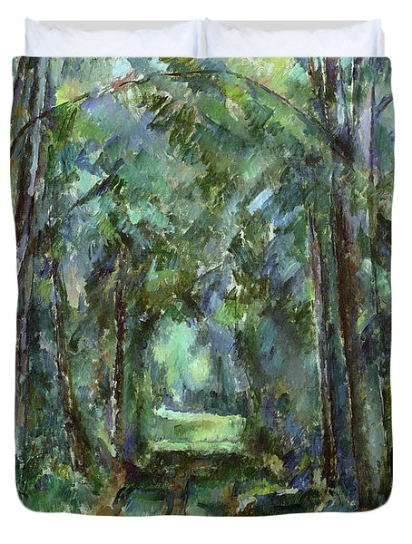 Avenue At Chantilly Duvet Cover by Paul Cezanne