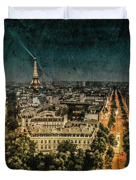 Paris, France - Avenue Kleber Duvet Cover
