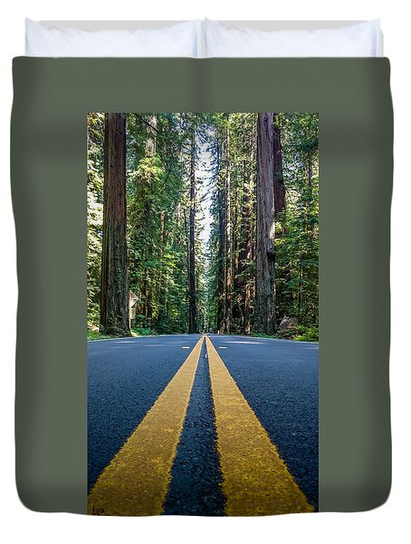 Avenue Of The Giants Duvet Cover