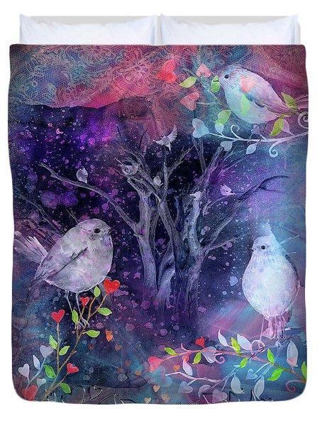 Avian Midnight Duvet Cover