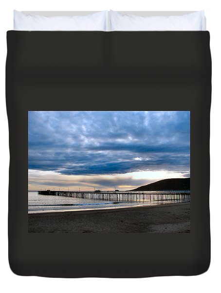 Avila Pier Duvet Cover by Dana Patterson