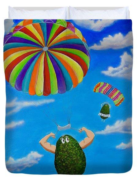 Avocado's From Heaven Duvet Cover