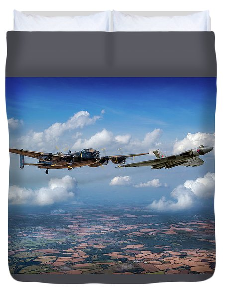 Duvet Cover featuring the photograph Avro Sisters  by Gary Eason