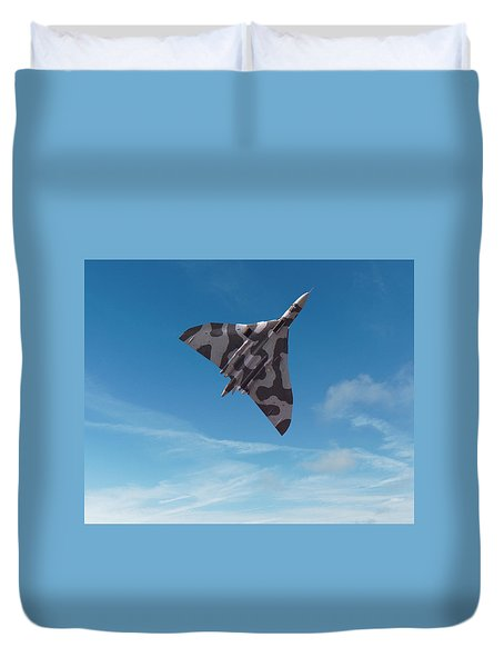 Duvet Cover featuring the digital art Avro Vulcan -1 by Paul Gulliver