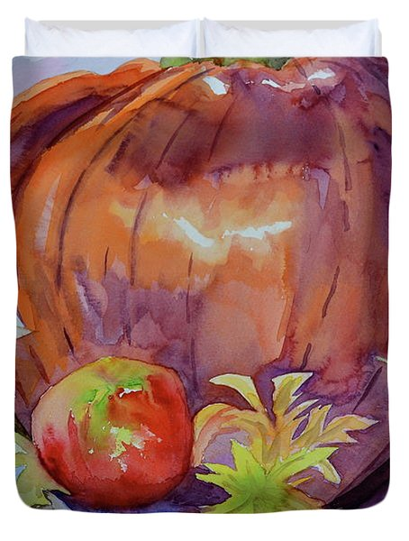 Duvet Cover featuring the painting Awaiting by Beverley Harper Tinsley