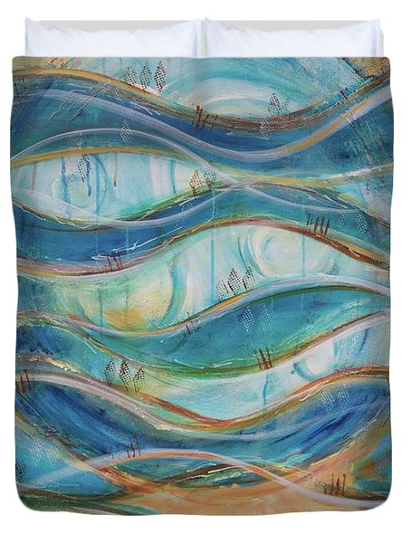 Duvet Cover featuring the painting Awaken by Jocelyn Friis