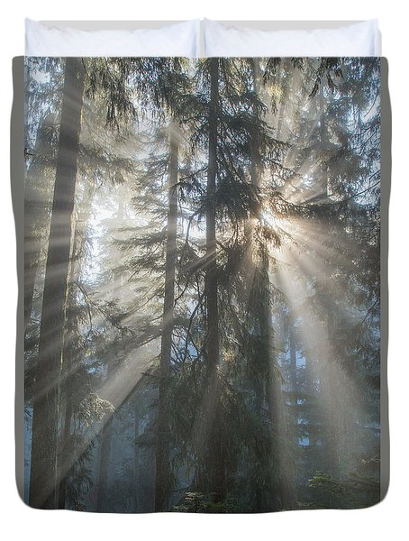 Duvet Cover featuring the photograph Awakening by Angie Vogel