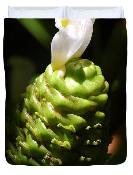 Duvet Cover featuring the photograph Awapuhi Plant by Debbie Karnes