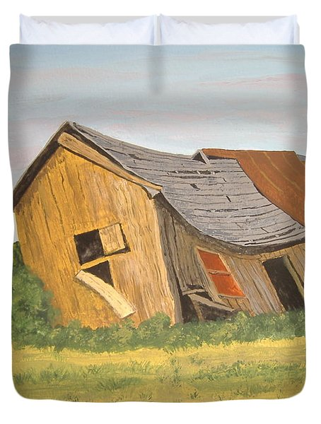 Duvet Cover featuring the painting Award-winning Original Acrylic Painting - Now I Lay Me Down To Sleep by Norm Starks