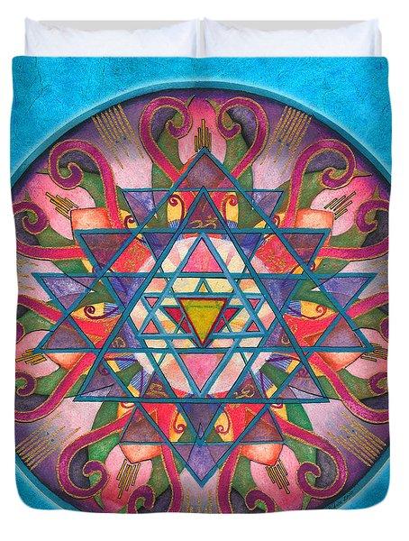 Awareness Mandala Duvet Cover