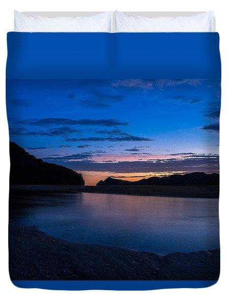 Awaroa Bay Sunrise Duvet Cover by Martin Capek