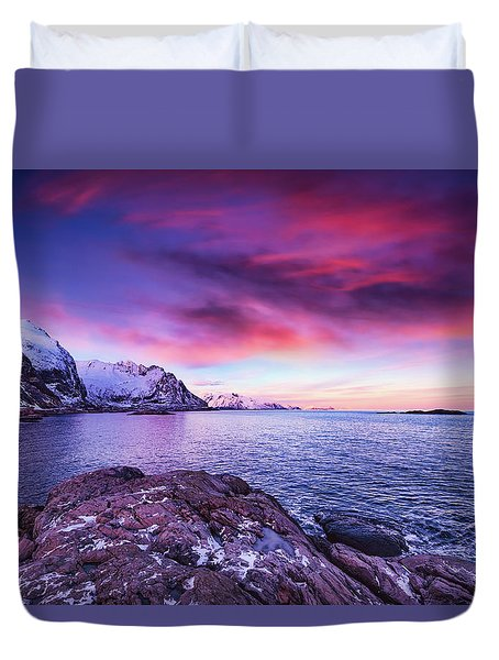Away From Today Duvet Cover