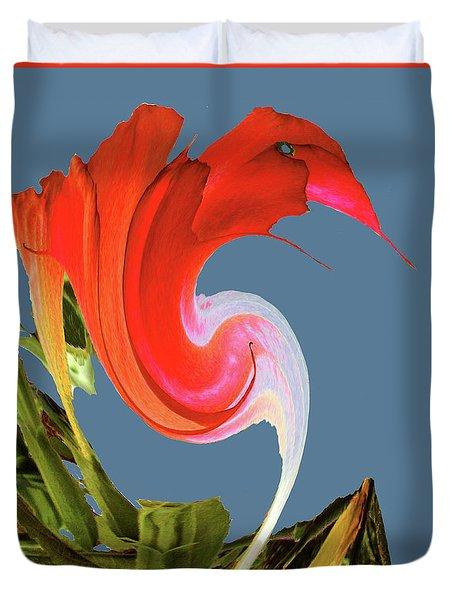 Duvet Cover featuring the digital art Away We Go - Digital Art by Merton Allen