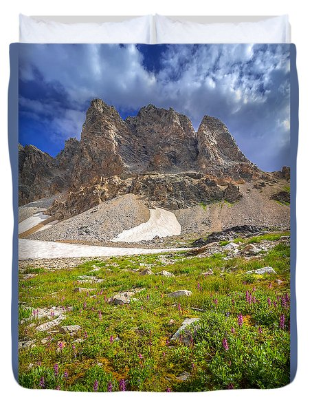 Duvet Cover featuring the photograph Awe Inspring Grand Teton Landscape by Serge Skiba