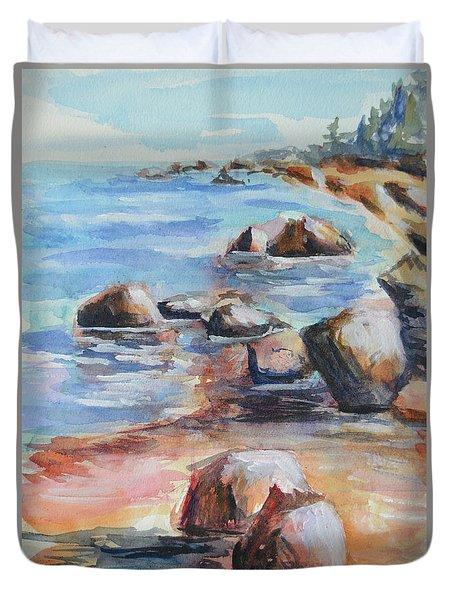 Awenda Shore Duvet Cover by Heather Kertzer