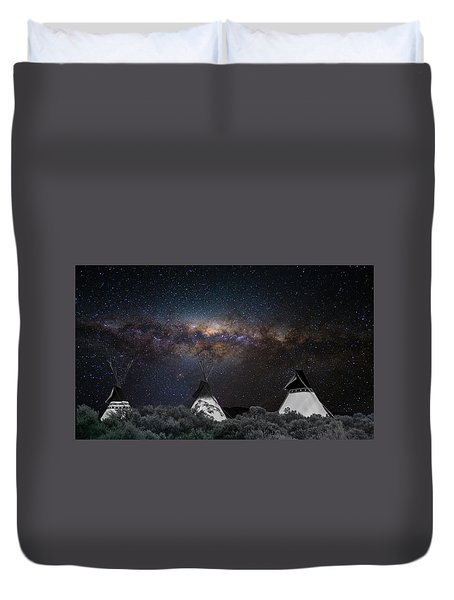 Duvet Cover featuring the photograph Awesome Skies by Carolyn Dalessandro