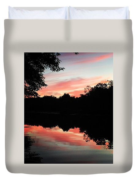 Awesome Sunset Duvet Cover