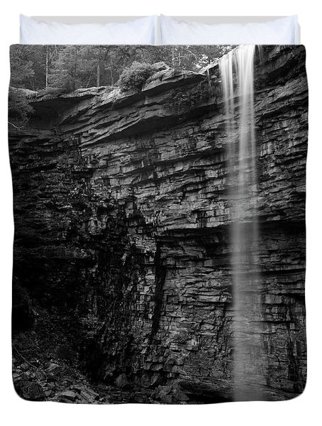 Awosting Falls In Spring #4 Duvet Cover by Jeff Severson