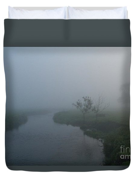 Axe In The Mist Duvet Cover