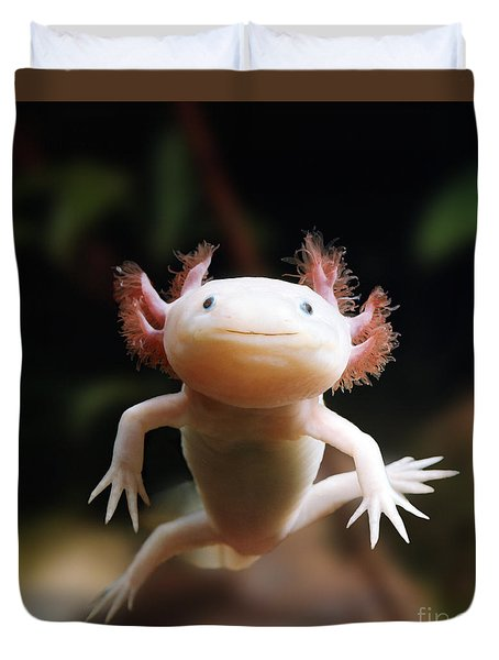 Axolotl Face Duvet Cover